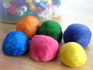 modeling clay in different colors