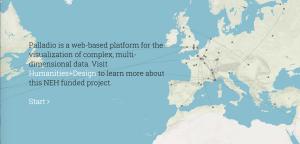 screenshot from Palladio website